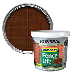 Ronseal One Coat Medium Oak Matt Shed &