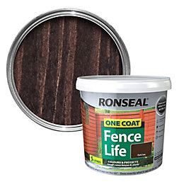 Ronseal One Coat Fence Life Dark Oak Shed