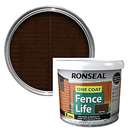 Ronseal One Coat Fence Life Dark Oak Shed