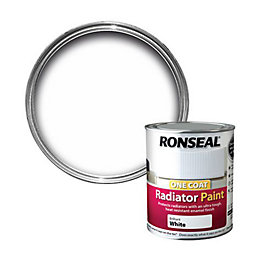 Ronseal Brilliant White Satin Radiator Paint 0.25L
