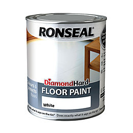 Ronseal Diamond Hard Floor Paint White Satin Floor