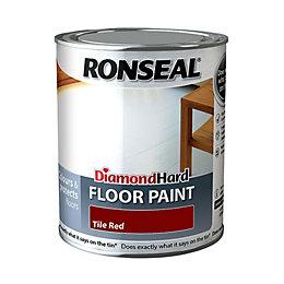 Ronseal Diamond Hard Floor Paint Tile Red Satin