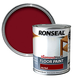 Ronseal Diamond Tile Red Satin Floor Paint 750ml