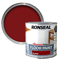Ronseal Diamond Tile Red Satin Floor Paint 2.5L