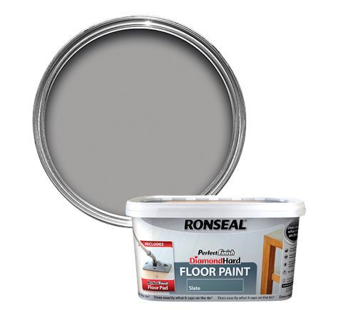 Ronseal Perfect Finish Slate Satin Floor Paint2 5l