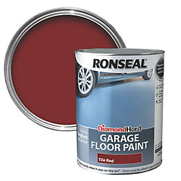 Ronseal Diamond Tile Red Satin Garage Floor Paint
