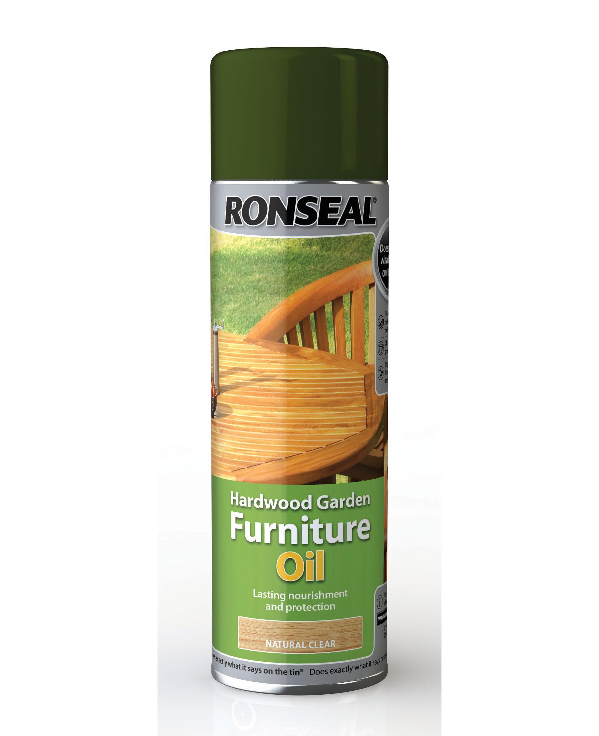 Ronseal Clear Matt Hardwood Garden Furniture Oil 0 5L   Departments   DIY  at B Q. Ronseal Clear Matt Hardwood Garden Furniture Oil 0 5L