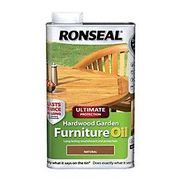 Ronseal Ultimate Protection Hardwood Garden Furniture Oil 1L