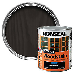 Ronseal Ebony High Satin Sheen Wood Stain 750ml