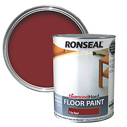 Ronseal Diamond Tile Red Satin Floor Paint5L