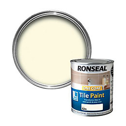 Ronseal Tile Paints Ivory Satin Tile Paint0.75L
