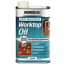Ronseal Clear Matt Anti-Bacterial Worktop Oil 0.5L