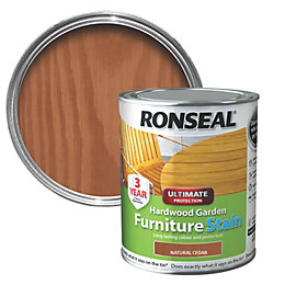 Ronseal Hardwood Natural Cedar Hardwood Garden Furniture Stain