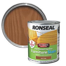 Ronseal Hardwood Rich Teak Hardwood Garden Furniture Stain