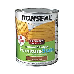 Ronseal Hardwood Furniture Stain English Oak Hardwood Garden