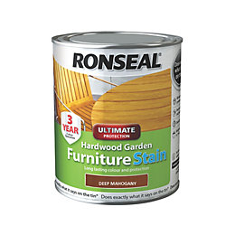 Ronseal Hardwood Furniture Stain Deep Mahogany Hardwood Garden