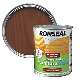 Ronseal Hardwood Deep Mahogany Hardwood Garden Furniture Stain
