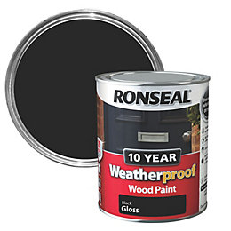 Ronseal Black Gloss Wood Paint 750ml