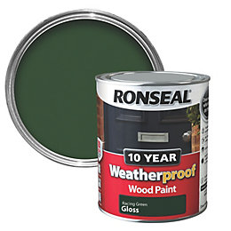 Ronseal Racing Green Gloss Wood Paint 750ml