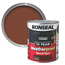 Ronseal Dark Oak Gloss Wood Paint 750ml