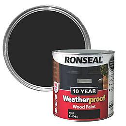 Ronseal Black Gloss Wood Paint 2.5L