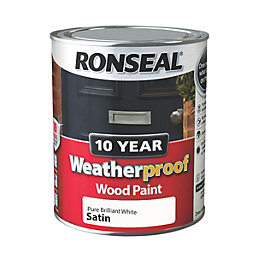 Ronseal 10 Year Weatherproof Pure Brilliant White Satin