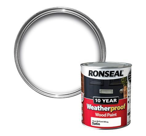 Ronseal Pure Brilliant White Satin Wood Paint 750ml