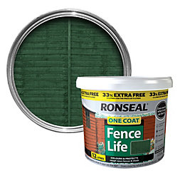 Ronseal One Coat Fence Life Forest Green Shed