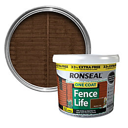 Ronseal Medium Oak Shed & Fence Stain 12L