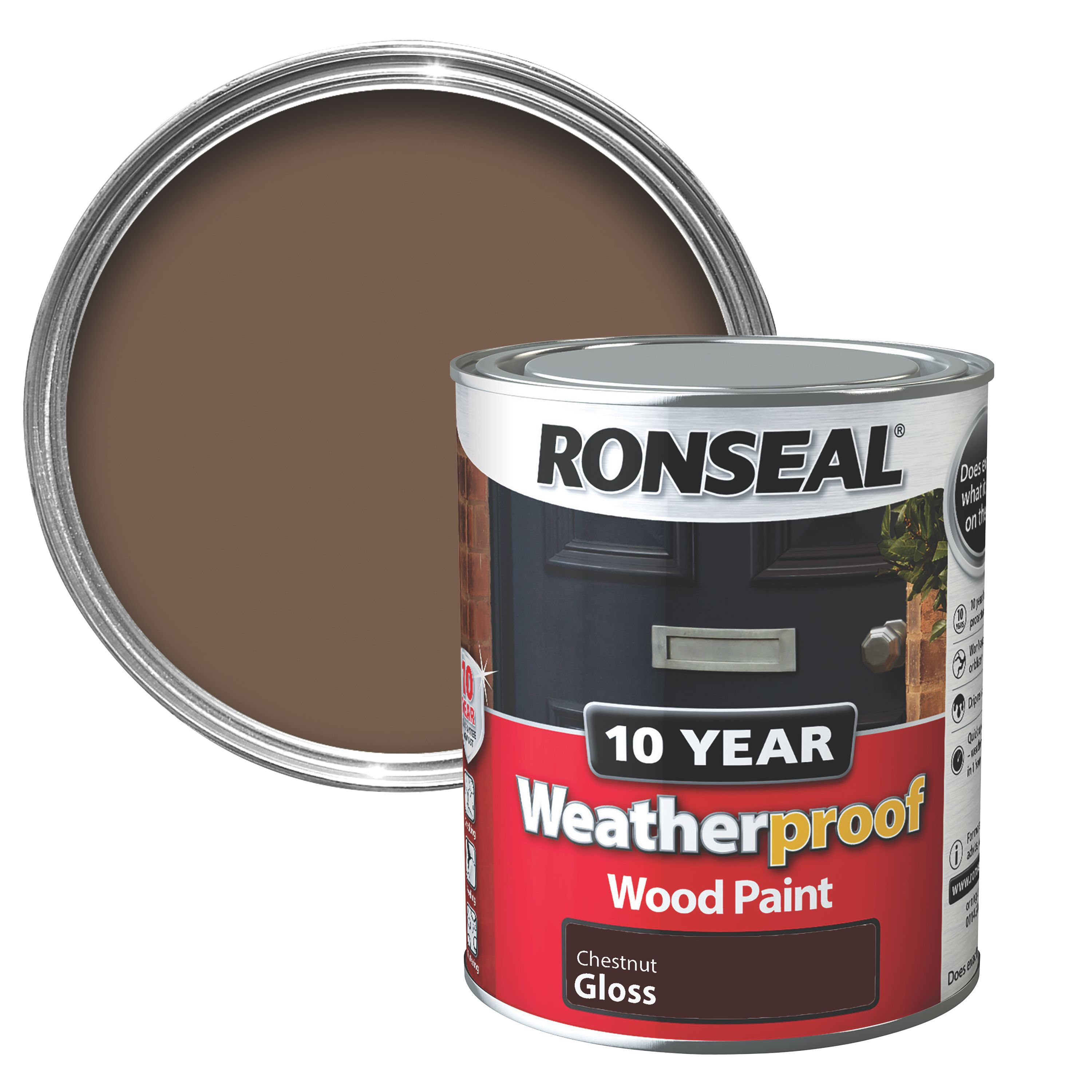 Ronseal Chestnut Gloss Wood Paint Departments Diy At B Q