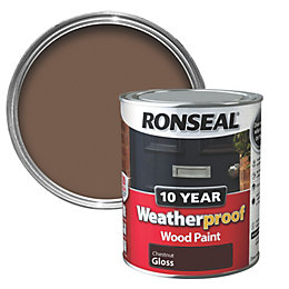 Ronseal Chestnut Gloss Wood Paint 0.75L