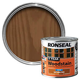 Ronseal Natural Oak High Satin Sheen Woodstain 0.25L