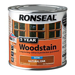 Ronseal Exterior Woodstain Natural Oak Woodstain 250ml