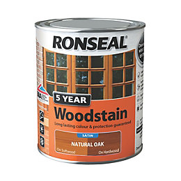 Ronseal Exterior Woodstain Natural Oak Woodstain 750ml
