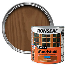 Ronseal Natural Oak High Satin Sheen Wood Stain