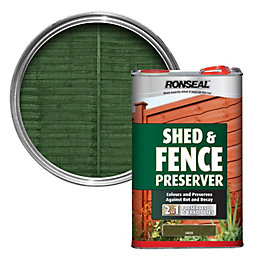 Ronseal Green Shed & Fence Preserver 5L