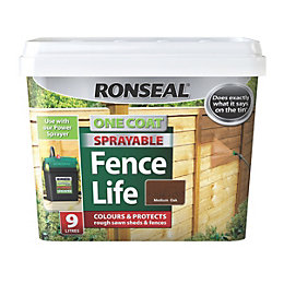 Ronseal One Coat Sprayable Fence Life Medium Oak