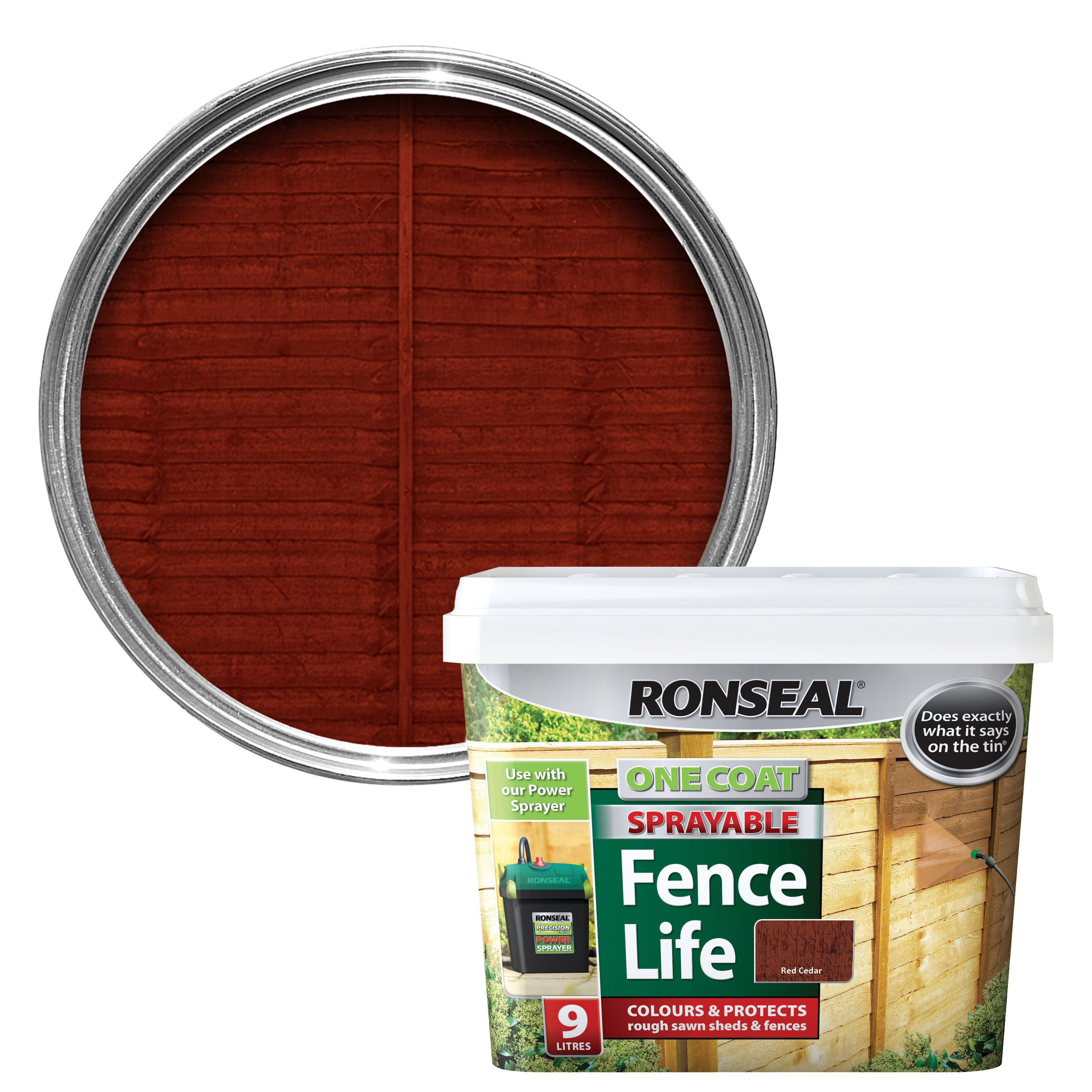 Ronseal chalky furniture paint ronseal - Ronseal Red Cedar Matt Shed Fence Stain 9l Departments Diy At B Q