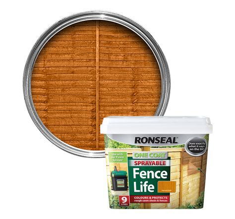 Ronseal Harvest Gold Matt Shed & Fence Stain 9l