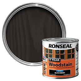Ronseal Ebony High Satin Sheen Wood Stain 250ml
