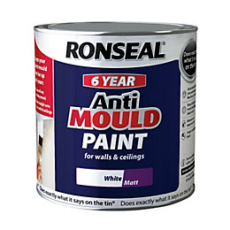Ronseal Problem Wall Paints White Matt Anti-Mould Paint