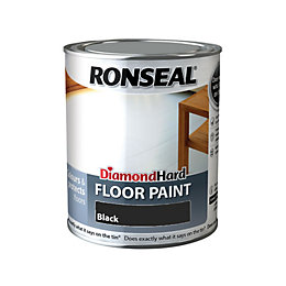Ronseal Diamond Black Satin Floor Paint 750ml