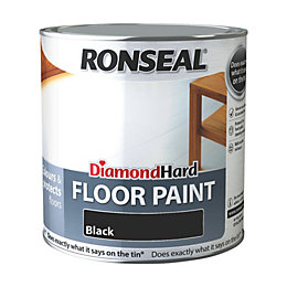 Ronseal Diamond Black Satin Floor Paint 2.5L