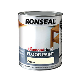Ronseal Diamond Cream Satin Floor Paint0.75L