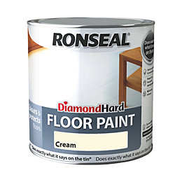 Ronseal Diamond Cream Satin Floor Paint 2.5L