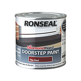 Ronseal Doorstep Paint Tile Red Satin Doorstep Paint