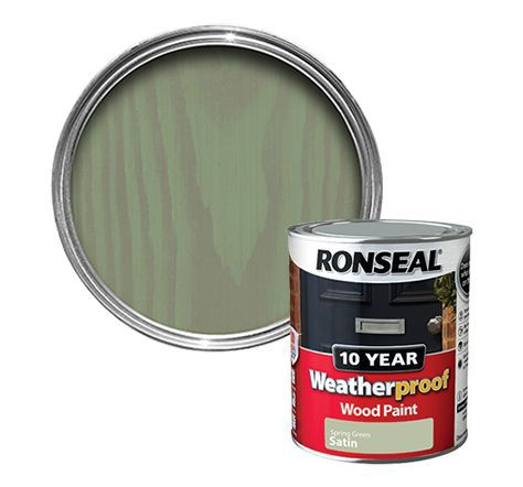 Ronseal Spring Green Satin Wood Paint Departments Diy At B Q