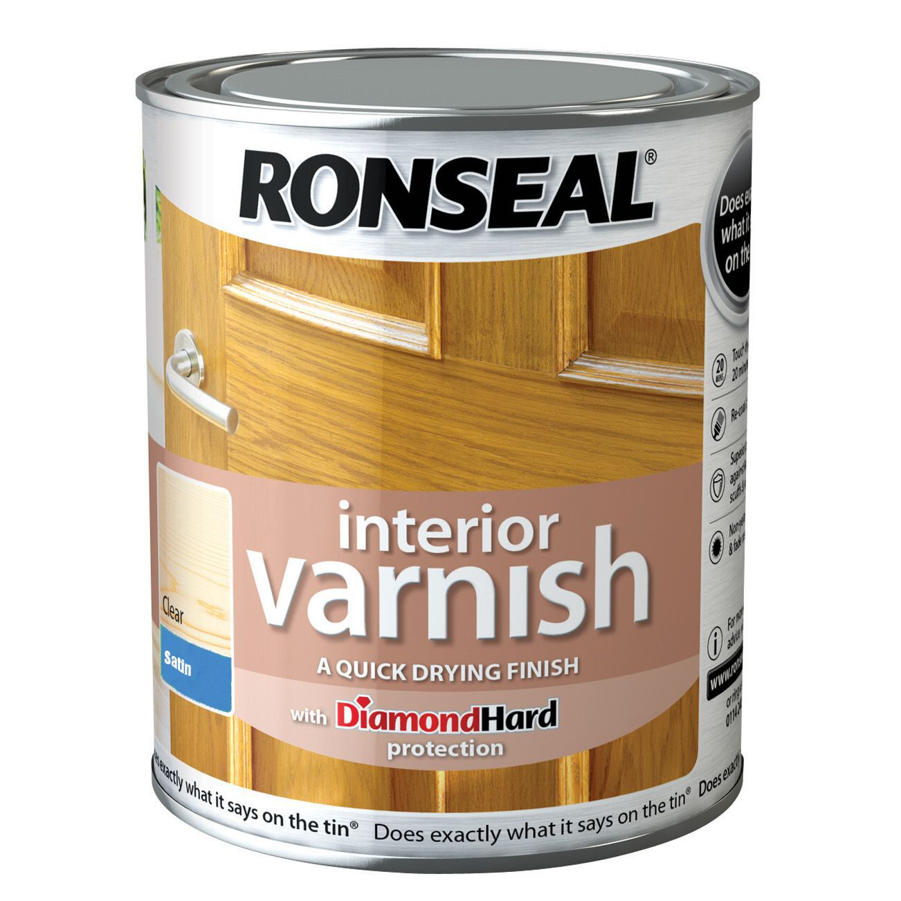 Ronseal Interior Diamond Hard Clear Satin Interior Varnish 250ml Departments Diy At B Q