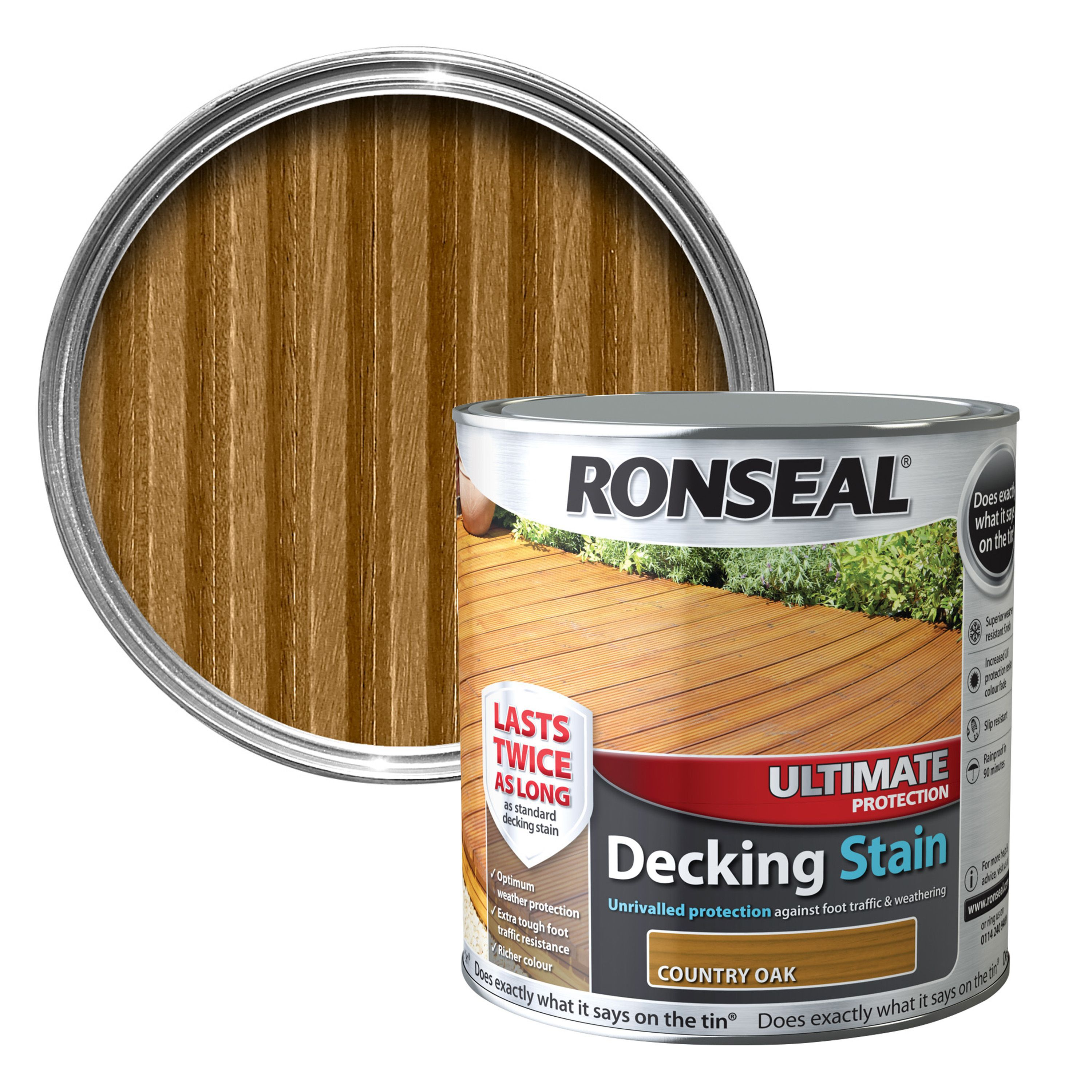 Ronseal ultimate country oak matt decking stain 25l departments ronseal ultimate country oak matt decking stain 25l departments diy at bq baanklon Image collections