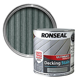 Ronseal Ultimate Stone Grey Decking Stain 2.5L